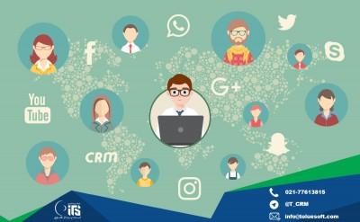 لینک نرم افزار crm به شبکه های اجتماعی