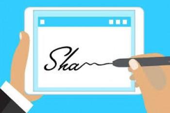 ثبت تصویر امضا در پیش فاکتور  و فاکتور